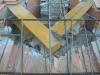 Collegamento struttura in acciaio del tetto al cordolo