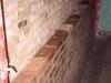 Particolare ispessimento muratura a mattoni