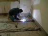 Consolidamento solaio in ferro saldature