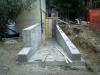 Nuova rampa di ingresso in cls locali interrati