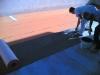 Impermeabilizzazione terrazzo con sistema Schluter Ditra posa del telo impermeabile