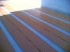 Impermeabilizzazione terrazzo con sistema Schluter Ditra posa delle fascette di giunzione