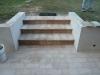 Particolare gradini e griglia raccolta acqua