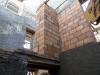 Ricostruzione muratura a blocchi sismici ultimata
