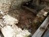 Svuotamento dei detriti cantine crollo porzione