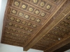 Solaio in legno restaurato tipo a cassettone
