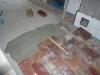 Posa pavimento con elementi in cotto recuperati