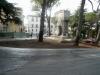 Prato aiuola monumento Piazza Campello