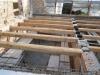 Posizionamento travi in castagno solaio in legno